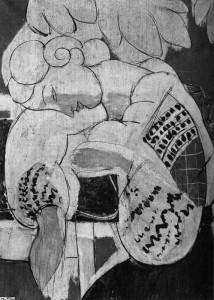 Series of photographs development of The Dream, Henri Matisse, 1940